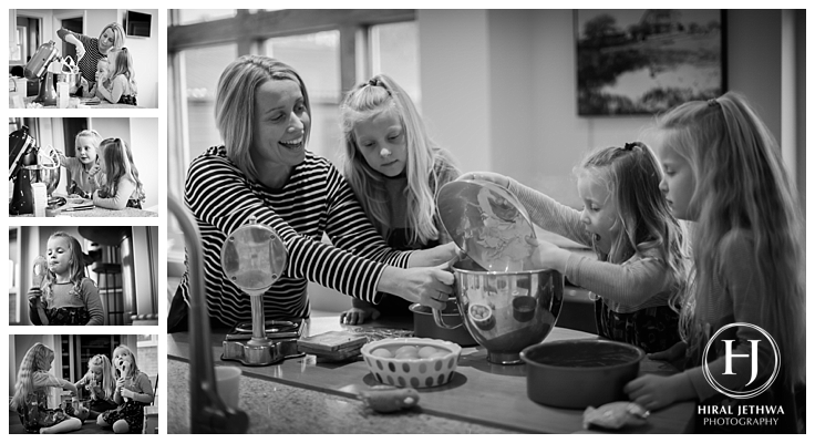 Mum making cupcakes with her 3 daughters a great gift mother's day