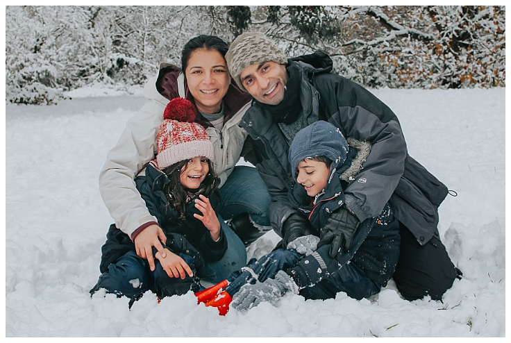 Essex Family Photographer Family Snow Day