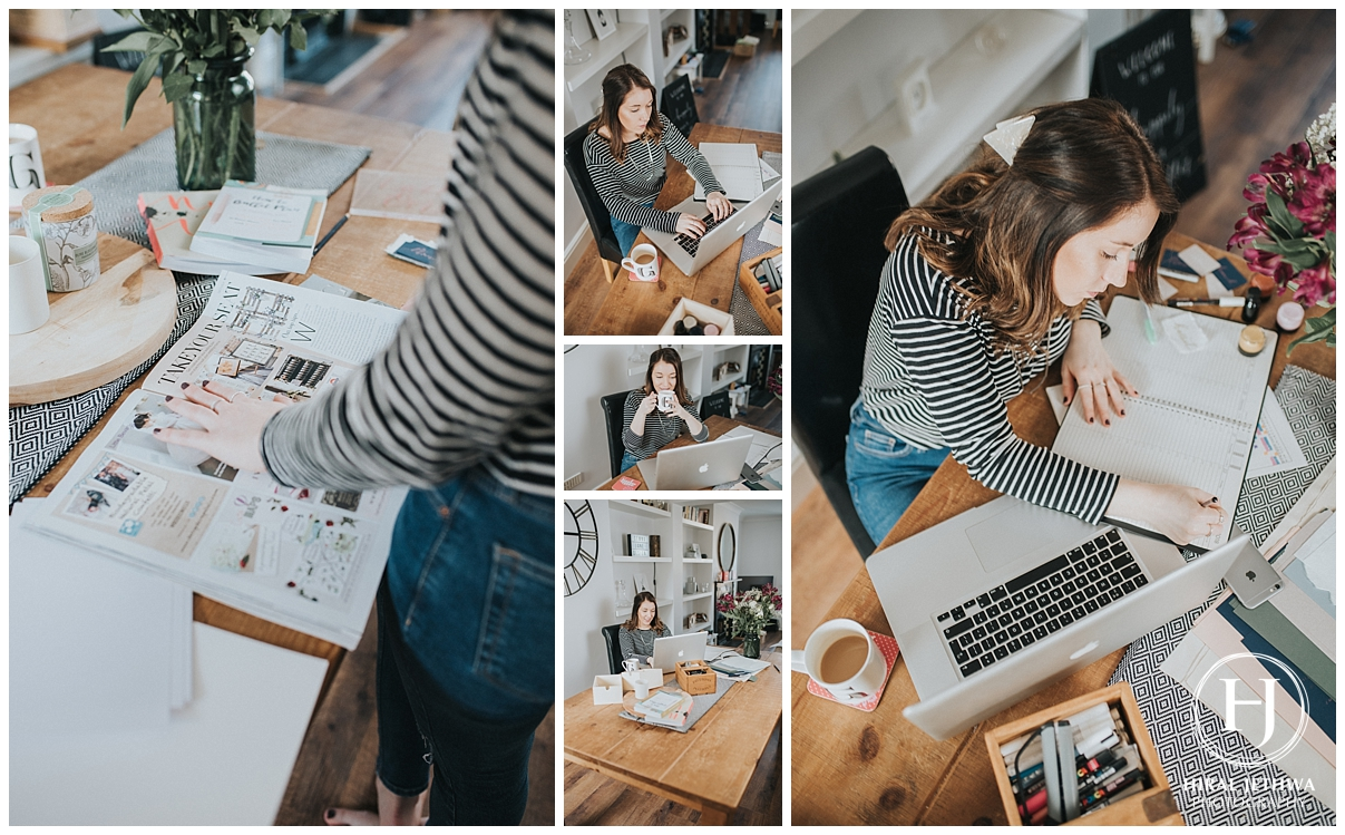 Personal Brand Photography Calligrapher Working From Home
