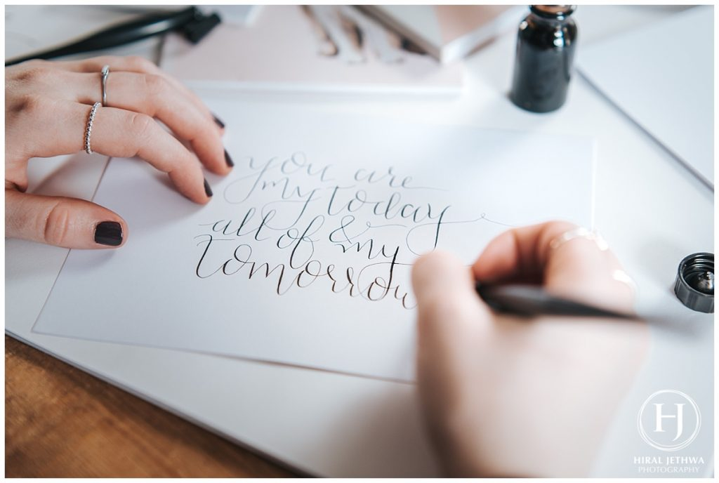 Personal Brand Photography Calligrapher Writing A Pome