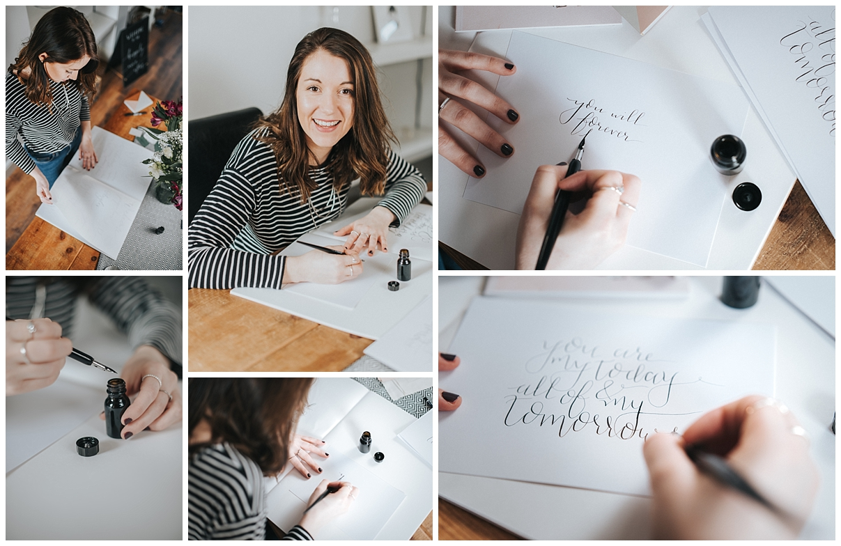 Personal Brand Photography Calligrapher relaxed headshots