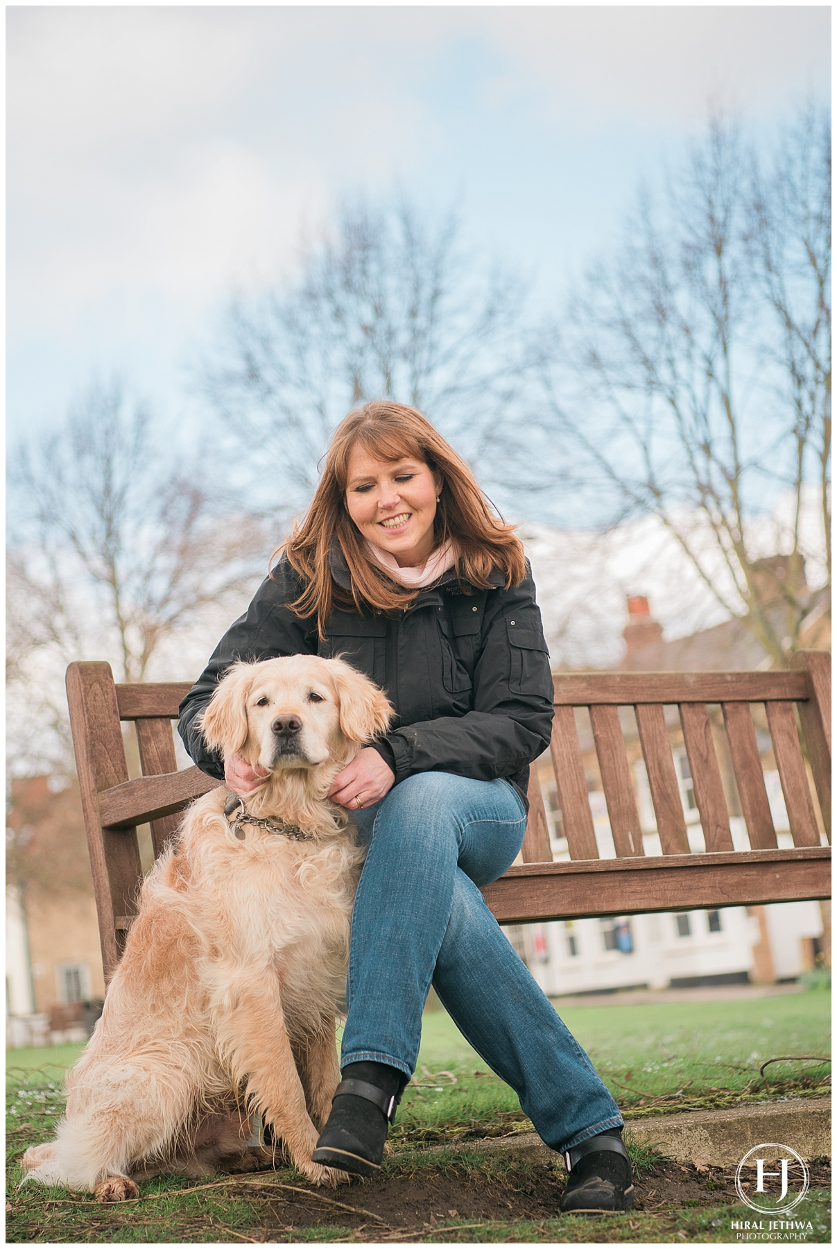 Personal Brand Photography Wedding Planner with her dog