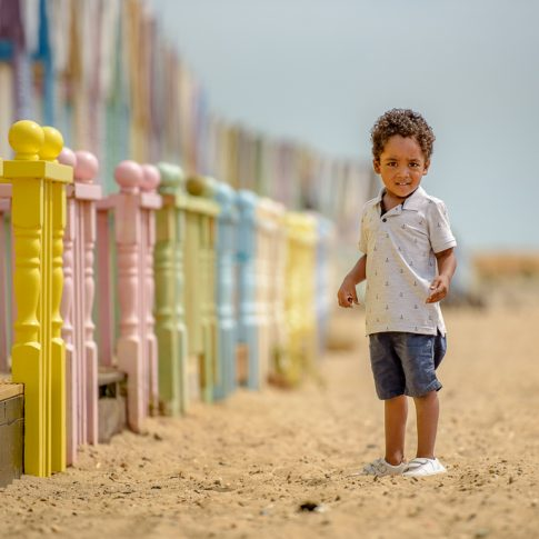 Mersea Beach Huts Photo Session One Little Boy