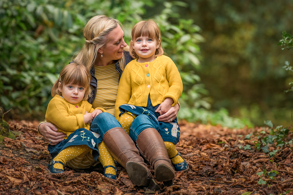The Popitha Twins Outdoor mother and daughter photoshoot Hylands Estate, clothes sponsored by Frugi