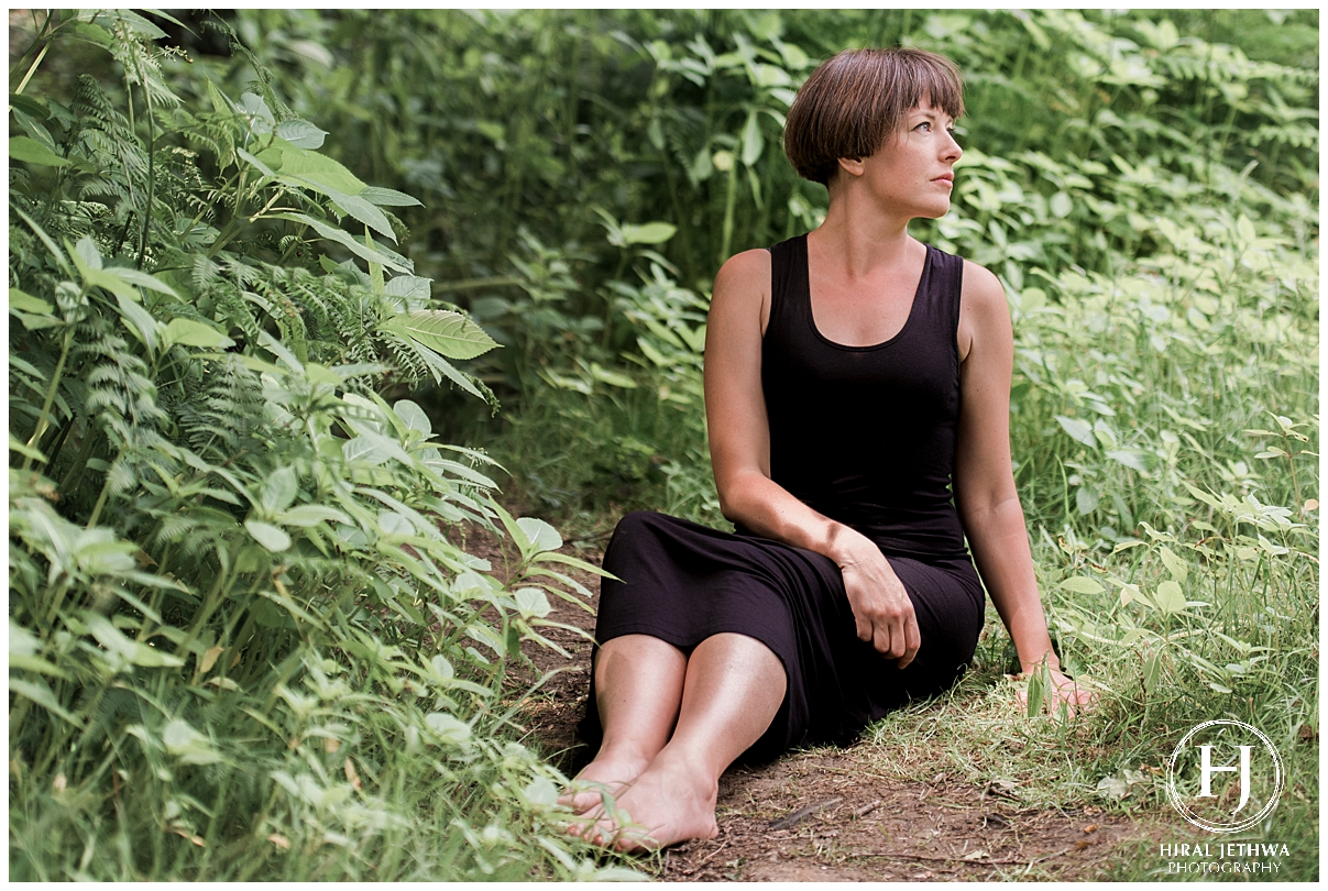 Outdoor personal brand shoot yoga coach essex